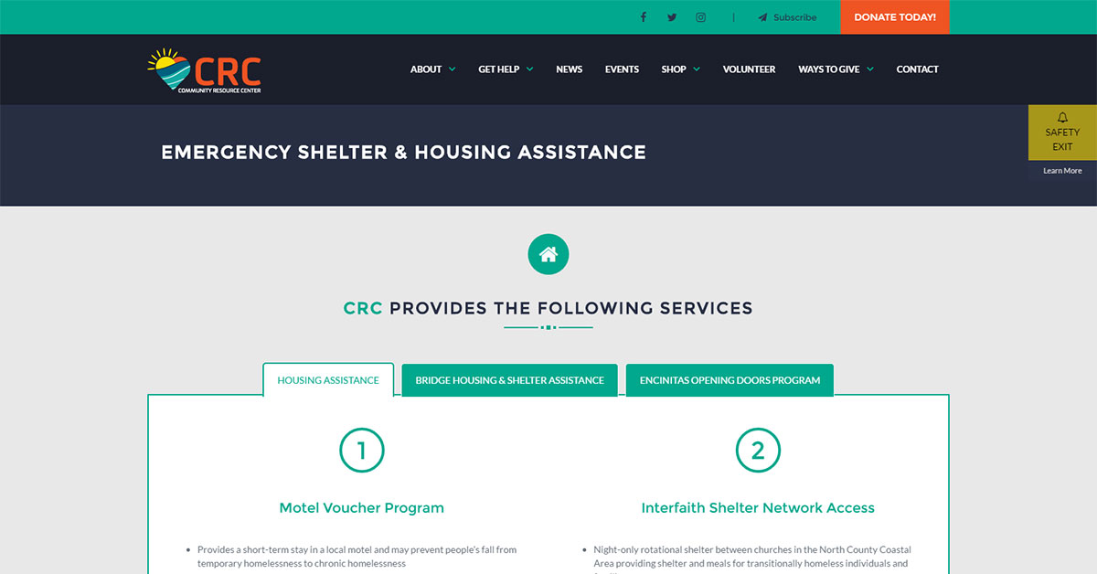 Emergency Shelter & Housing Assistance - Community Resource